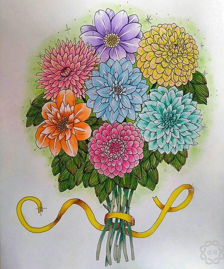 """104 To se mi líbí, 8 komentářů – °Rimea° Czech republik (@coloring.rimea) na Instagramu: """"🌺🌹🌸🌻🌼 #blomstermandalamålarbok #blomstermandala #mariatrolle #gelpen #marcoraffine #color #coloring…"""""""