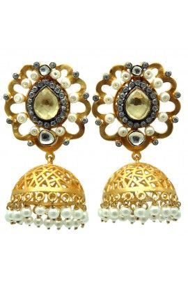 Buy Stud sterling silver earrings- Jhumkis,Danglers,pearl,Drops,Hoops,Victorian Earrings online at best price from Pulido Bozal.Free Delivery,COD,Premium quality.