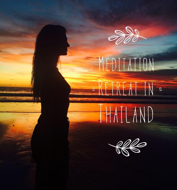 Meditation, Thailand, sacred temple, sunset, nature lover