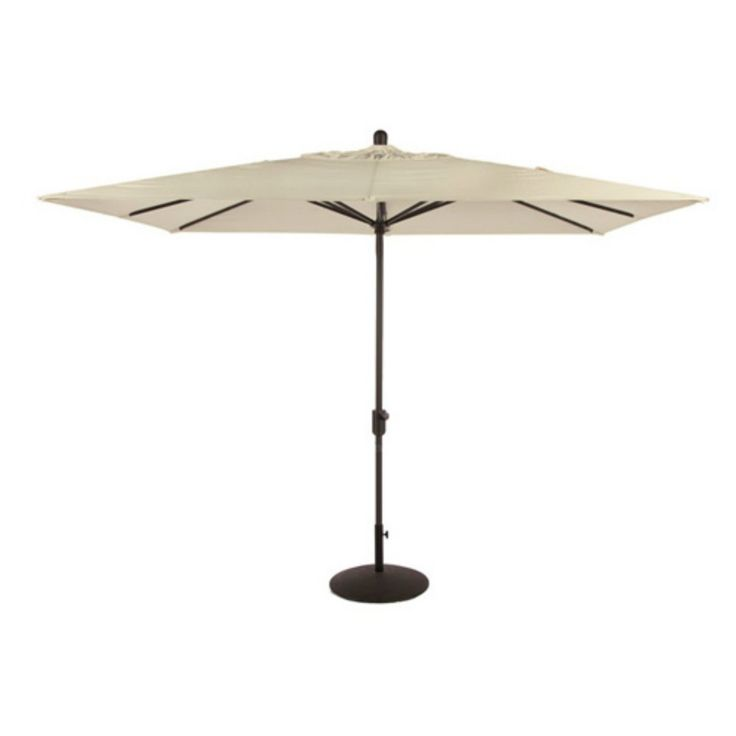 Amauri La Jolla 10 x 6.5 ft. Rectangular Aluminum Sunbrella Market Umbrella - 63224-101-CS22402
