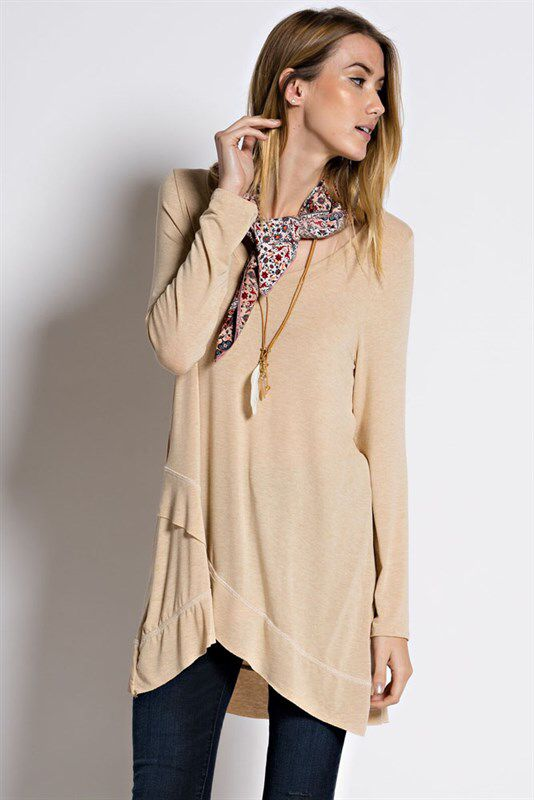 Extra long too great with leggings or skinny jeans. So soft! https://www.facebook.com/kleeboutique/