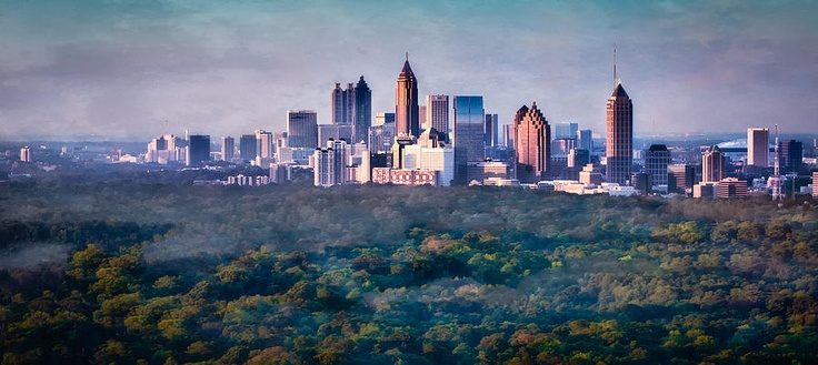 Atlanta skyline from Fine Art America