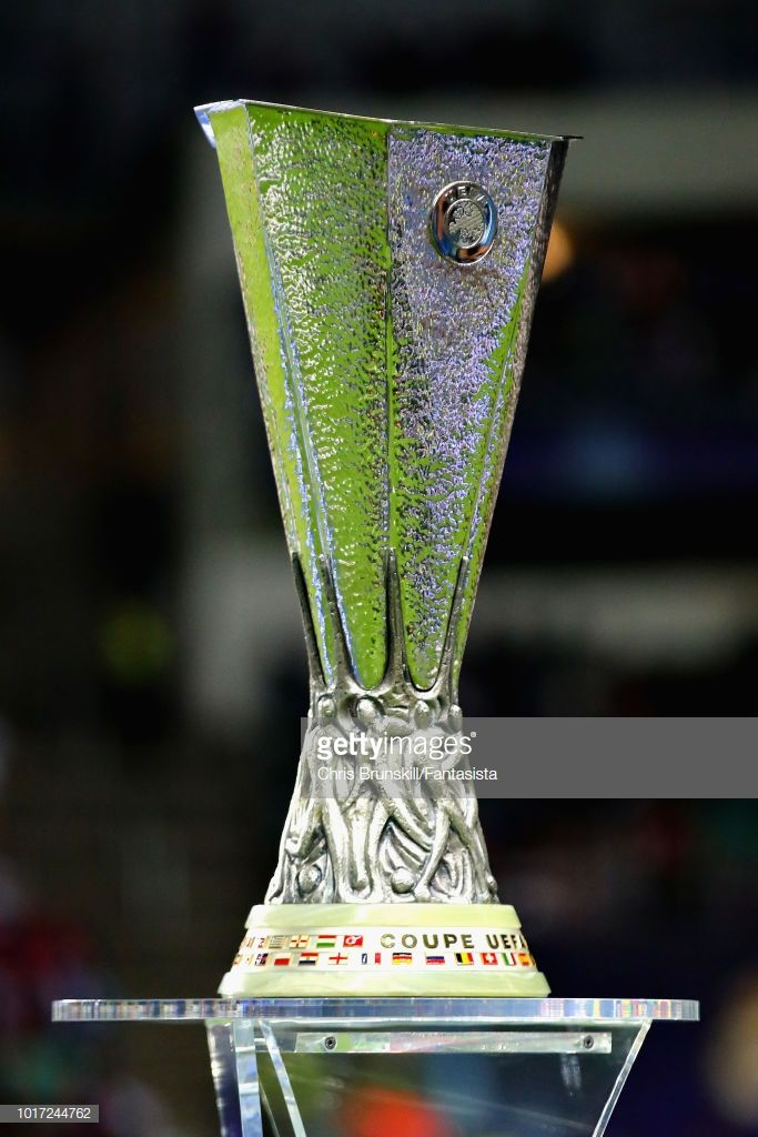 The Uefa Europa League Trophy Is Seen Before The Uefa Super Cup Between Real Madrid And Atletico Madrid At Lillekula Uefa Super Cup Atletico Madrid Real Madrid
