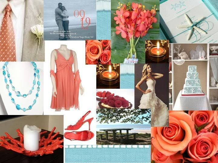 Coral and Teal Beach Wedding – fashion dresses