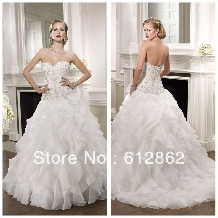 Cheap dress folding, Buy Quality dresses nightclub directly from China corset back prom dress Suppliers: Elegant Low Back Sweetheart Neckline Beaded Lace Bodice Ruffled Organza Skirt Ball Gown Strapless Wedding Dresses Corset Back