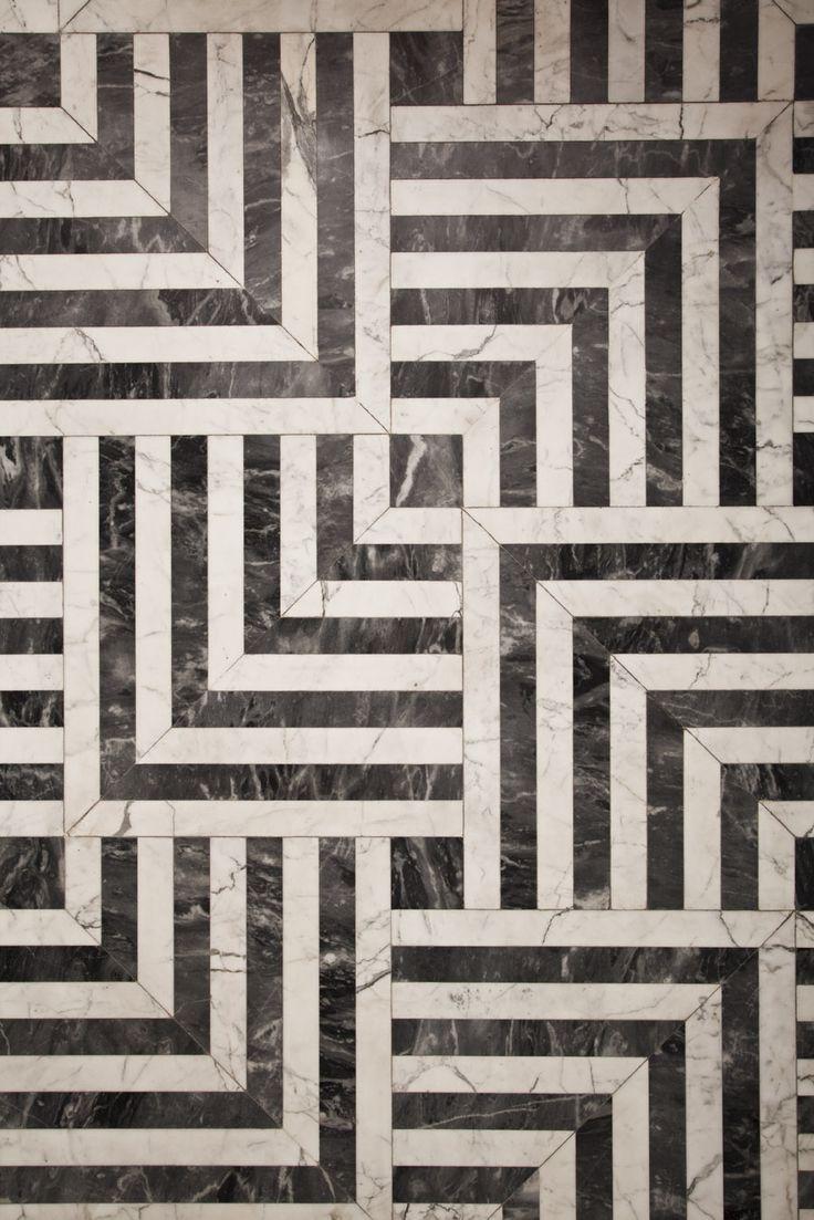 Beautiful marble floor by Kelly Wearstler Residential.