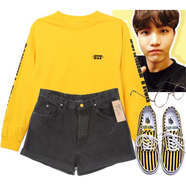 Korean Style (J-Hope - BTS) by evil-maknae on Polyvore featuring HUF, Kenzo and Wrangler
