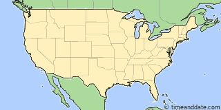 Map showing the location of Los Angeles. Click map to see the location on our worldwide Time Zone Map.