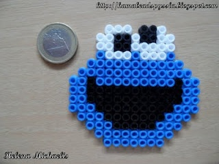 Monster cookie hama perler beads