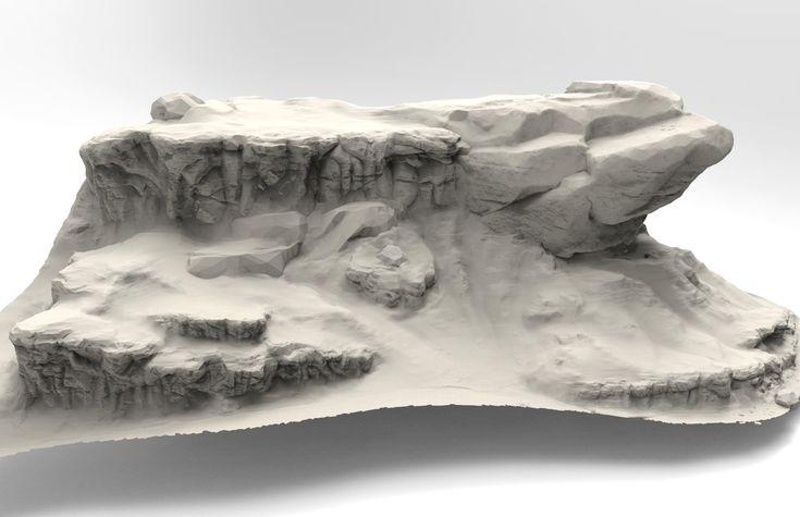 ArtStation - Rock/Terrain Speed sculpt studies, Jared Sobotta