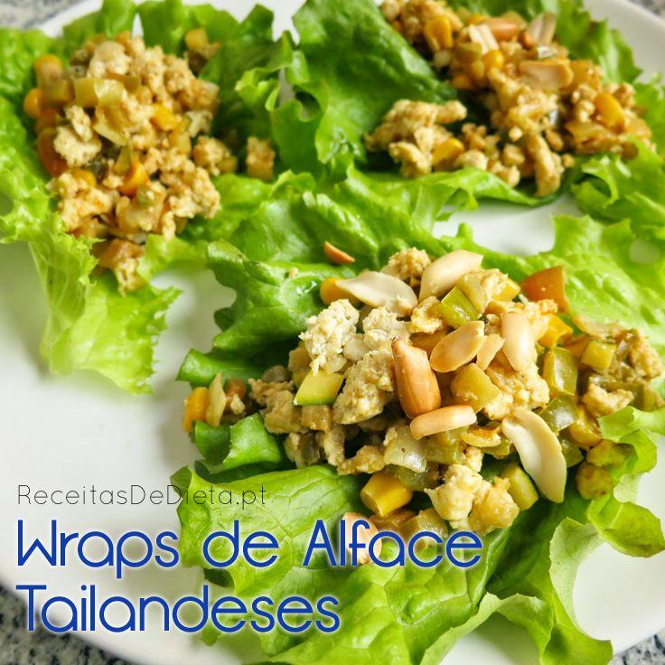 Dieta: Wraps de Alface Tailandeses (Low Carb)