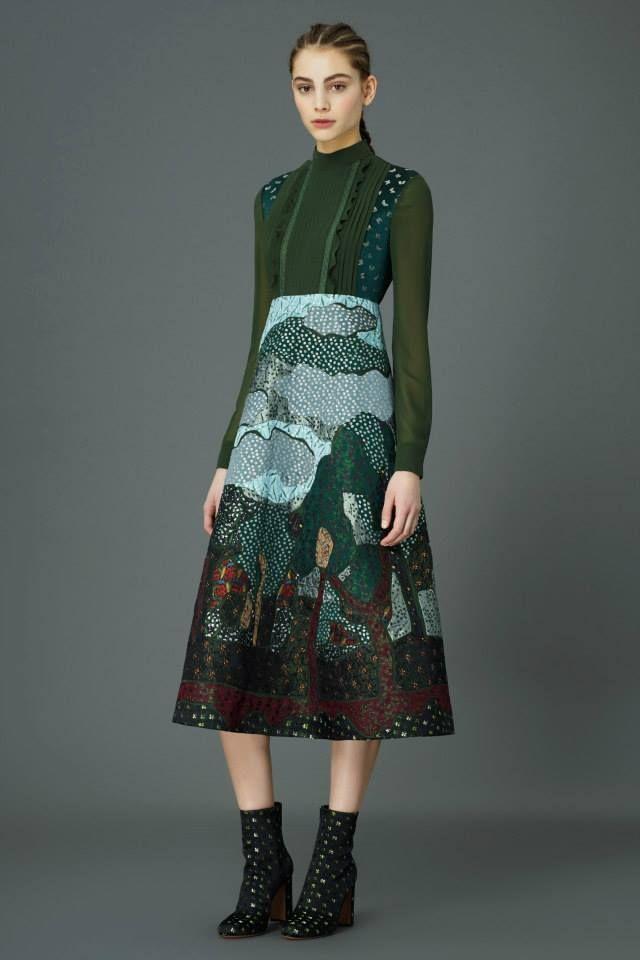 Celia Birtwell textile design for Valentino