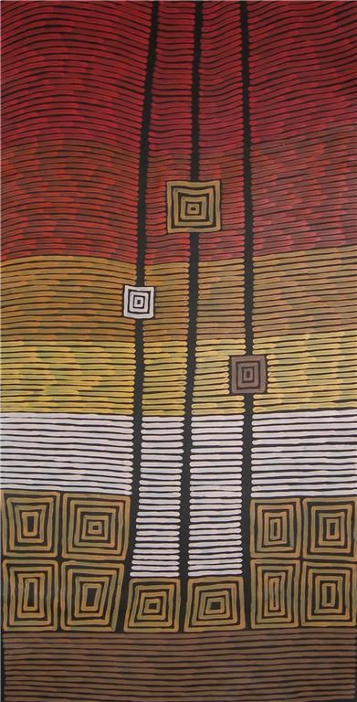 Aboriginal Artwork by Adam Reid Sold through Coolabah Art on eBay