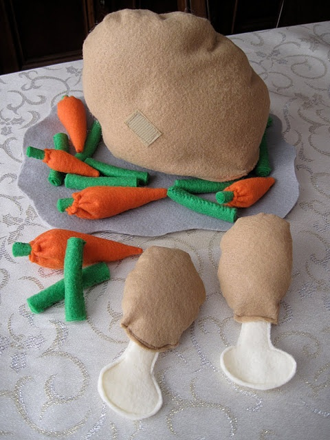 felt turkey & veg/ tutorial