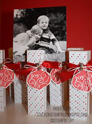 photo holder made of large wooden clothespin    Stuck on Stampin': 12 Days of Christmas