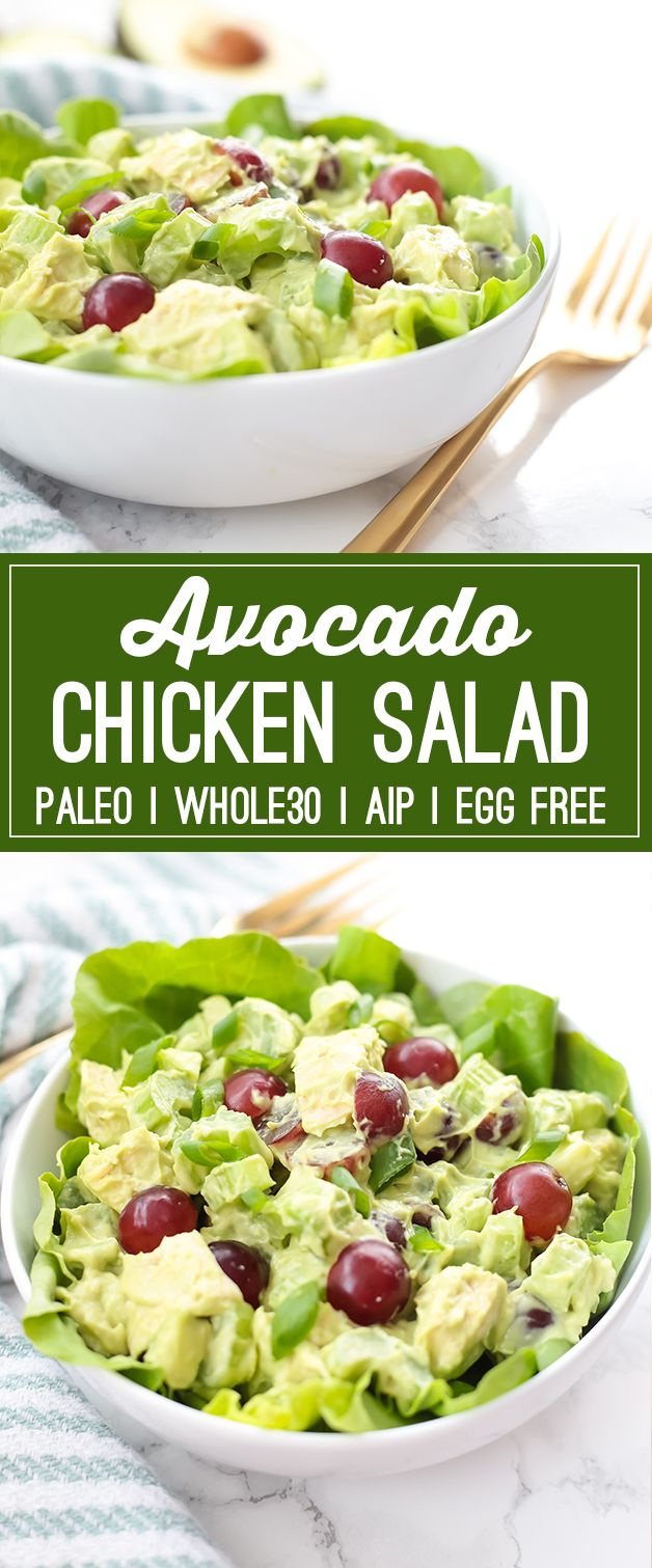 Paleo Avocado Chicken Salad (Whole30, AIP)