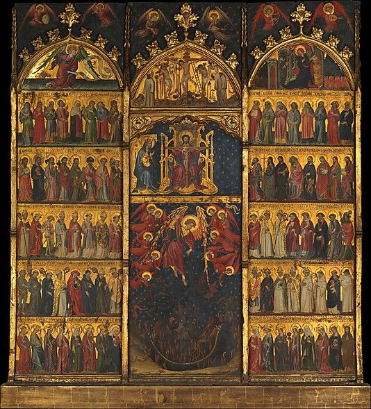 The Trinity Adored by All Saints, fifteenth century, Spain. (Metropolitan Museum of Art)