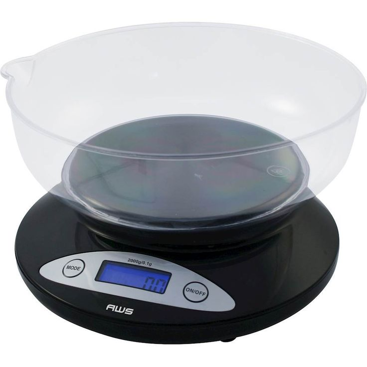 American Weigh Scales - Digital Kitchen Scale - Black