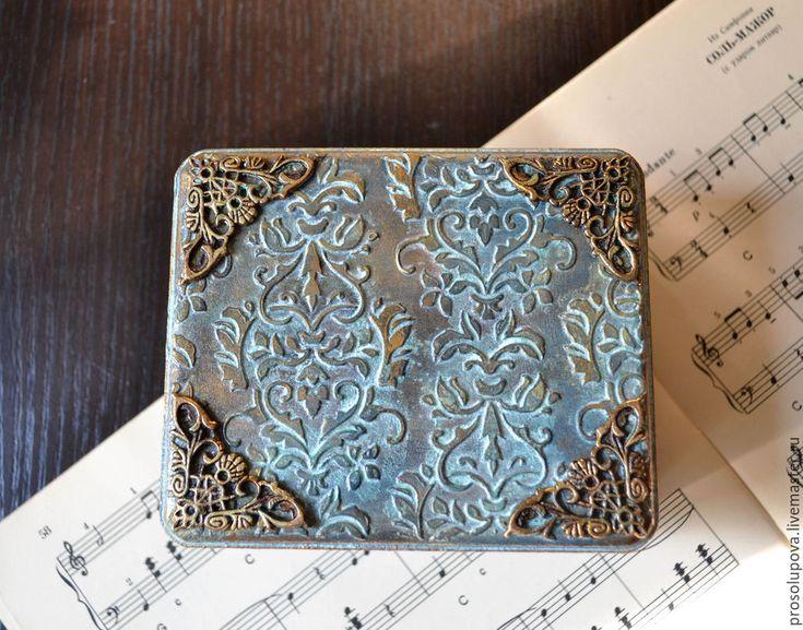 Купить Старинная шкатулка - серебряный, шкатулка, шкатулка для украшений, чеканка, имитация металла