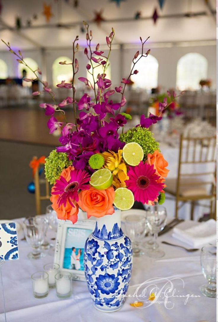 31 best mexican fiesta images on pinterest mexican weddings amp up the color at your cinco de mayo celebration with vibrant flowers mixed with freshly cut limes see more of this colorful fiesta inspired wedding by junglespirit Images