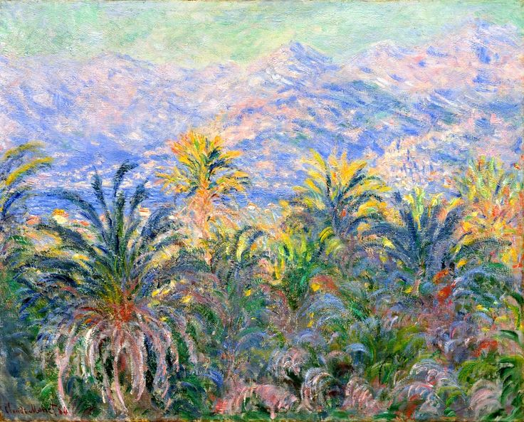 Claude Monet. Palm Trees at Bordighera (1884).