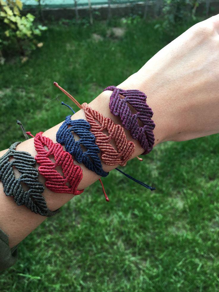 #macrame #bracelet #handmade #macramedıy #leaf