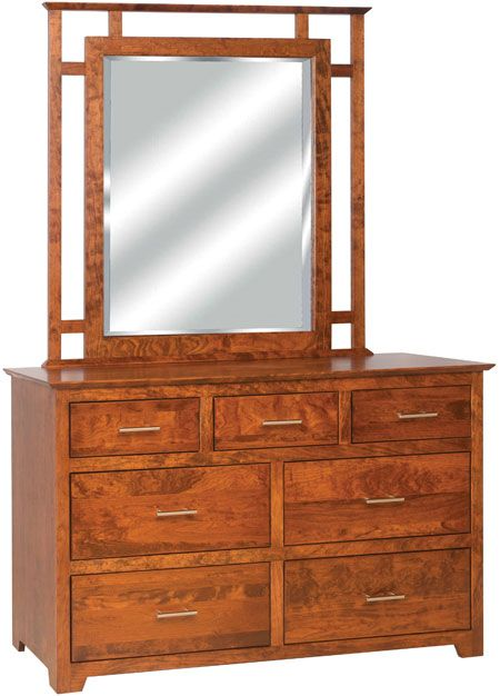 You'll save on every piece of furniture at Amish Outlet Store! We custom make every item, and you can get the Boston 7 Drawer Dresser in Oak with any wood and stain.