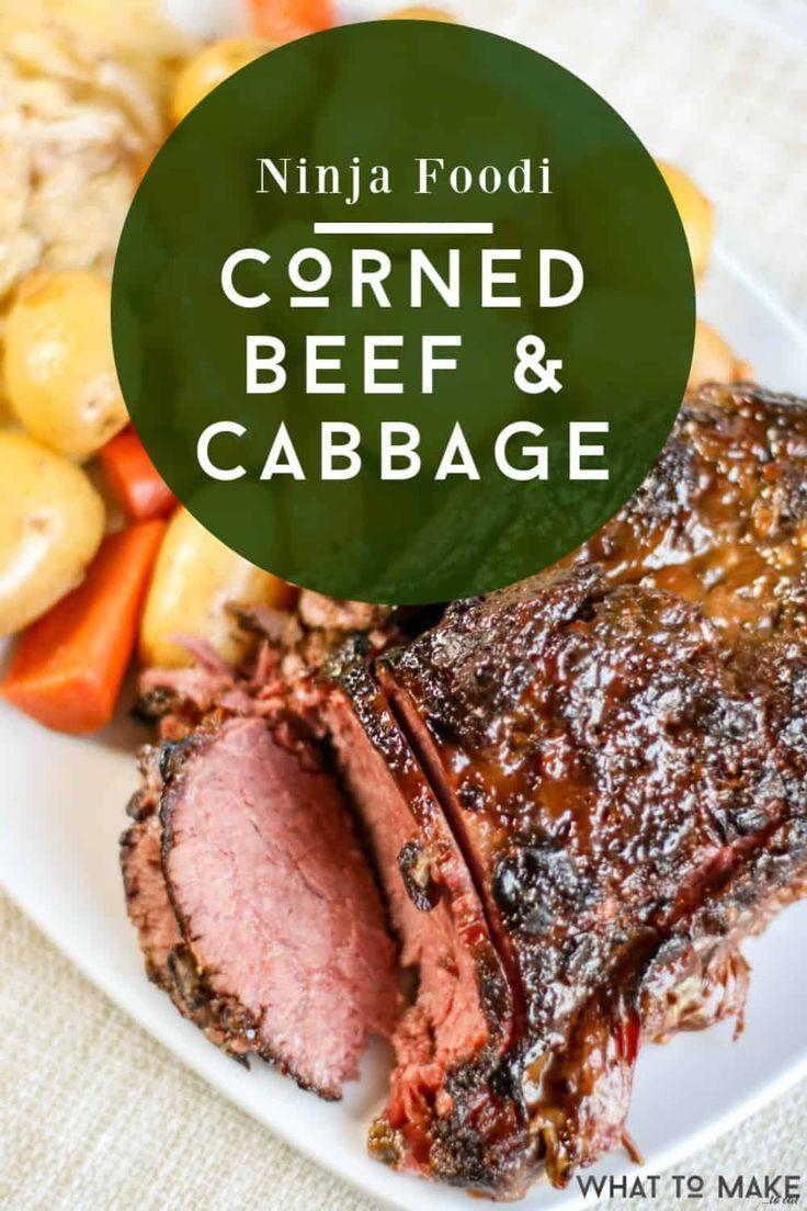 Ninja Foodi Recipes Beef Corn Beef And Cabbage Corned Beef Cooking Corned Beef