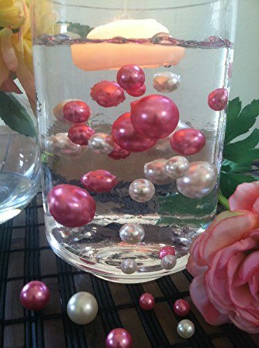 42 best elegant floating pearl centerpieces images on pinterest vase fillers for baby showerbridal showerwedding centerpiece elegant floating jumbo pearls ivoryhot pink junglespirit Gallery