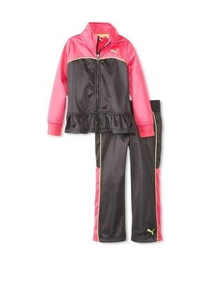 44% OFF Puma Girl's Colorblock Peplum Tricot Set (Dark Grey)