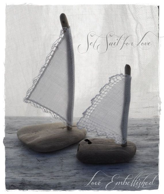 Driftwood Sail Boats by LoveEmbellished