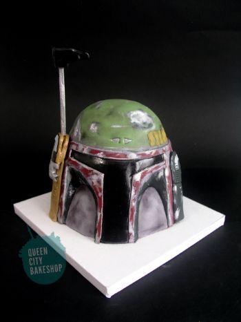 Boba Fett Helmet Groom's Cake