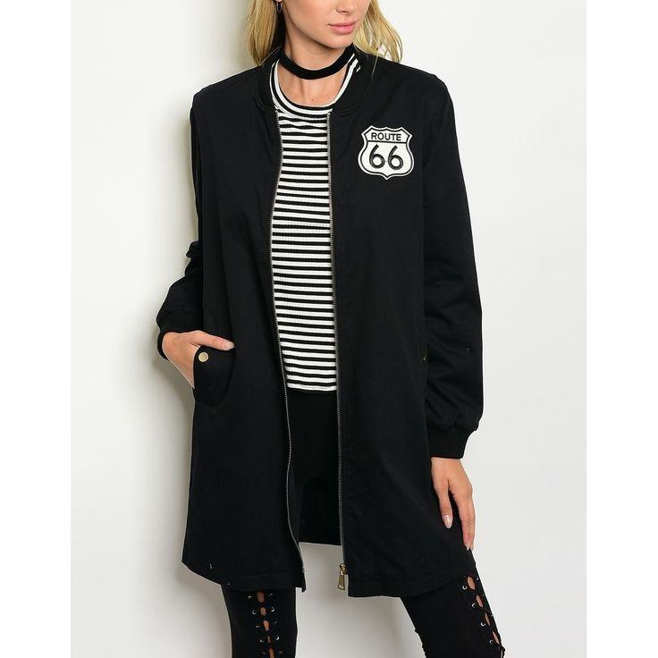 JED Women's Longline Bomber Jacket