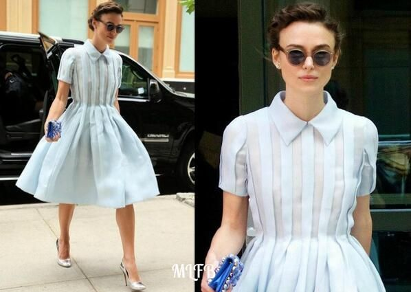 Keira Knightley In Prada - Out & About New York. Re-tweet and favorite it here: https://twitter.com/MyFashBlog/status/482663816069513217/photo/1