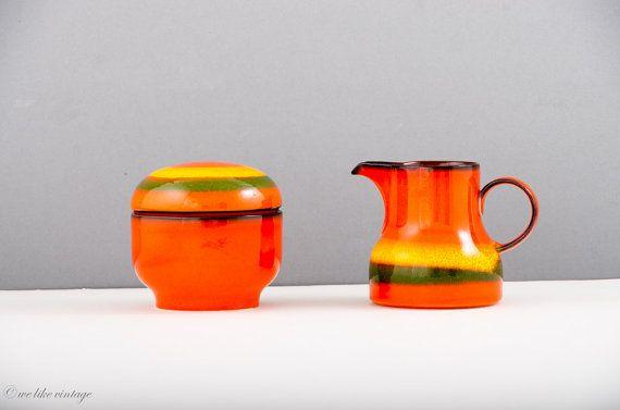 Vintage Zucker und Sahnegarnitur aus Keramik  von welikevintage