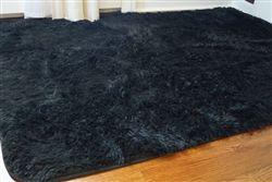 Softest Floor College Plush Rug - Black Dorm Floor Decor Supplies & Cheap Decorating Essential