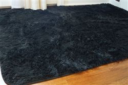 Softest Floor College Plush Rug - Black Dorm Floor Decor Supplies & Cheap Decorating Essential