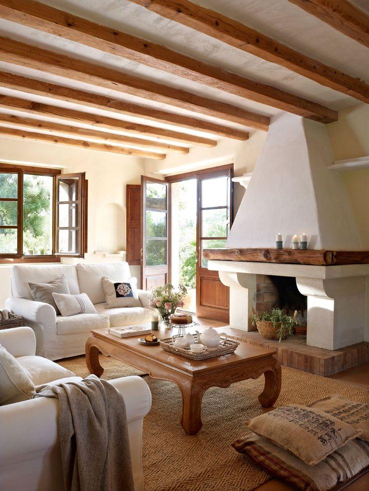 17 mejores ideas sobre salas rusticas en pinterest casas for Cocinas rusticas mallorquinas