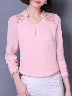 Fashionmia pink blouses and tops - Fashionmia.com