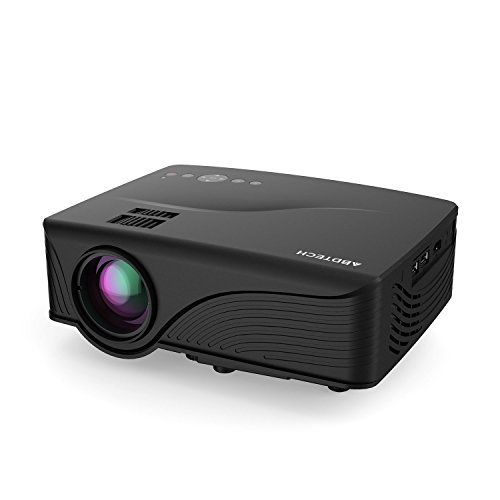 """(Abdtech 1200 Lumens Mini LED Multimedia Home Theater Projector - Max 120"""" Screen Optical Keystone USB/AV/SD/HDMI/VGA Interface - Ideal for Video Games, Movie Night, Family Videos and Pictures Review) Buy-Accessories.net"""