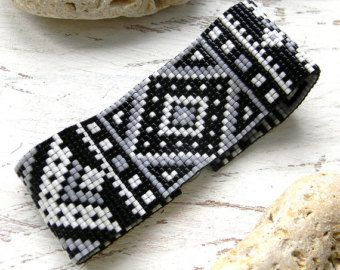 Beautiful beadwoven cuff - loom beading. Original design. Pattern designed by me. (Pattern is available here: