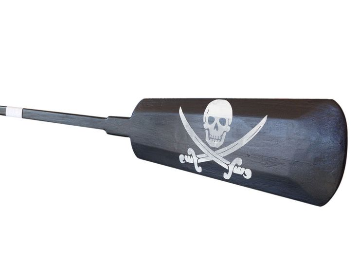 Wooden Calico Jack's Decorative Pirate Rowing Oar with Hooks