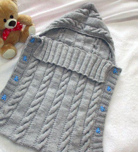 Patron tricot, nid d'ange simple. Taille 0 à 3 mois. A télécharger sur http://riffgraphisme.wix.com/madamecricotte