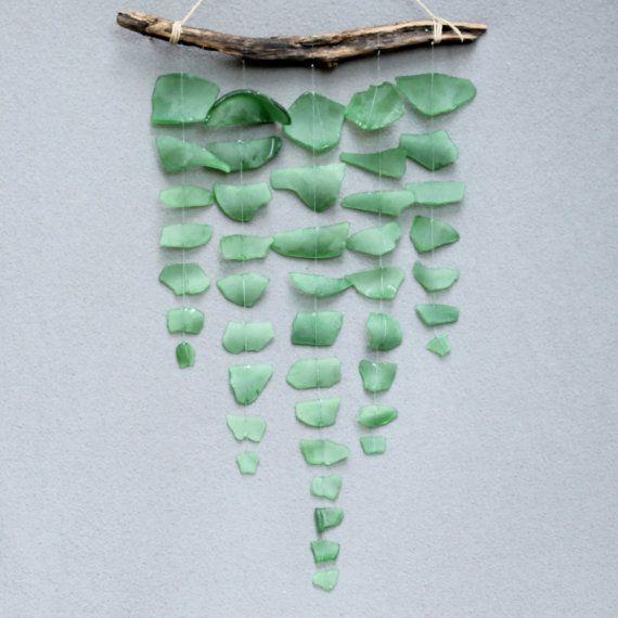 Mare di vetro & Driftwood Mobile - verde