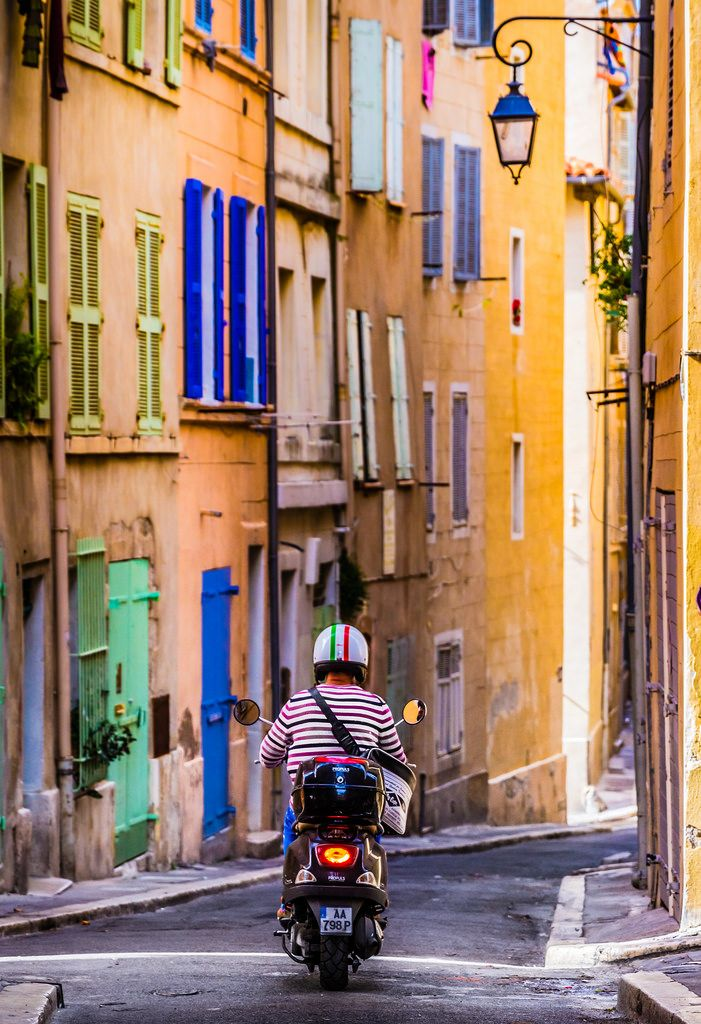 Back alleys of the Panier, in Marseille, France