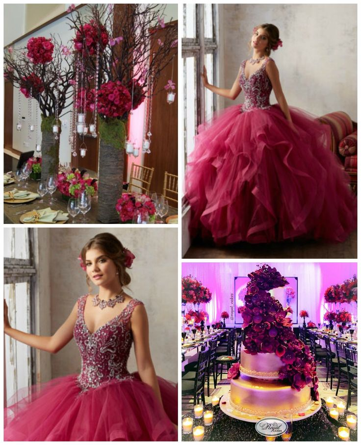 Fuchsia Color Theme Quinceanera | Quinceanera Themes | Morilee Dress