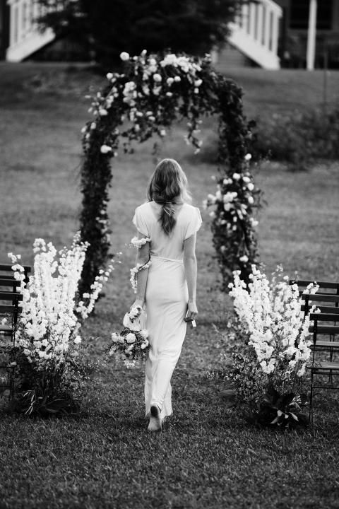 Bohemian Ceremony / Styled Shoot: The Enchantment of Flowers / LANE (Photography Jessica Aleece / Flowers by B Sweet)
