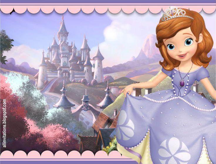 Plantilla de invitacion de cumpleaños de la Princesa Sofia