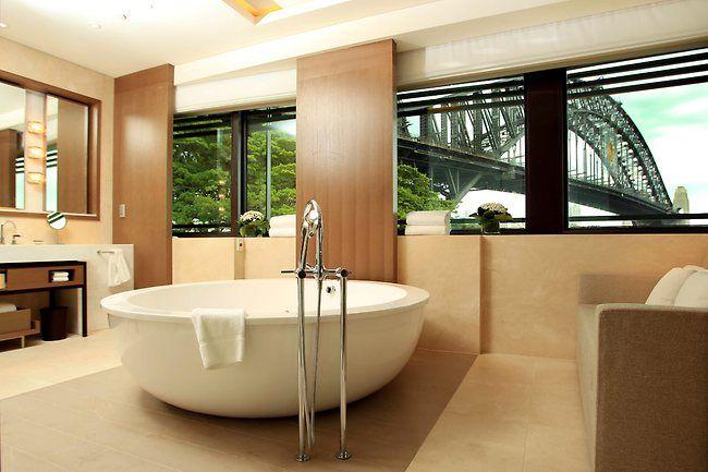 A tub with an amazing view!  Inside Park Hyatt #Sydney!