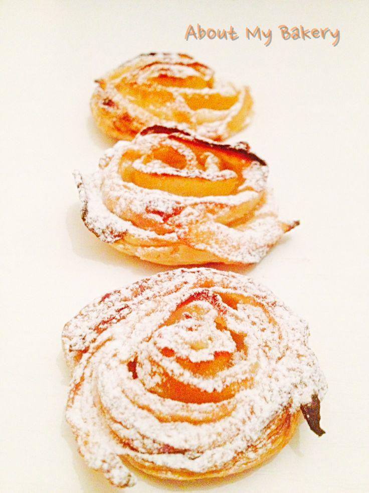 Rose di mele con pasta sfoglia | Semplice e veloce! | About My Bakery #dessert #perfetto #rose #mele